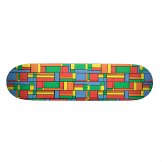 Color blocks skate board decks