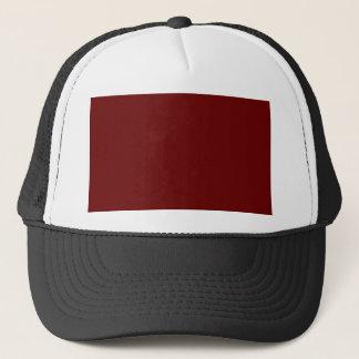 color blood red trucker hat