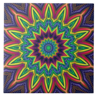 """Color Burst"" 6""x6"" Ceramic Tile"