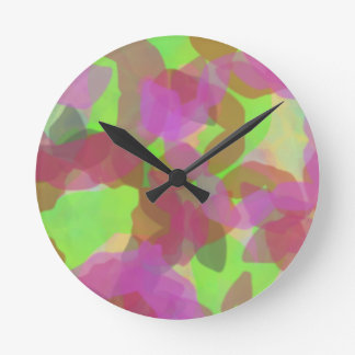 Color Burst Round Clock