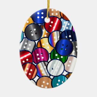 Color Button Collection Ceramic Ornament