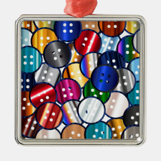 Color Button Collection Metal Ornament