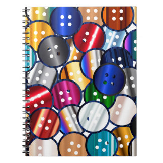 Color Button Collection Spiral Note Books