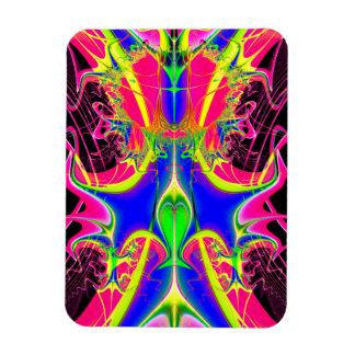 Color Cacophony  Fractal Rectangular Photo Magnet