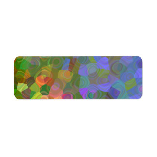 Color Celebration Return Address Label