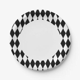 Color Changeable Harlequin Paper Plates