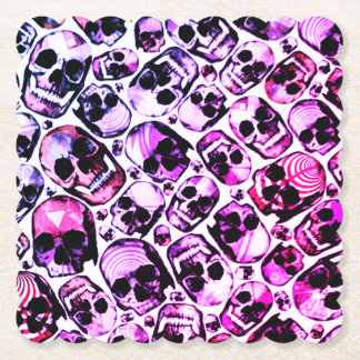 color changing all over skulls print table coaster