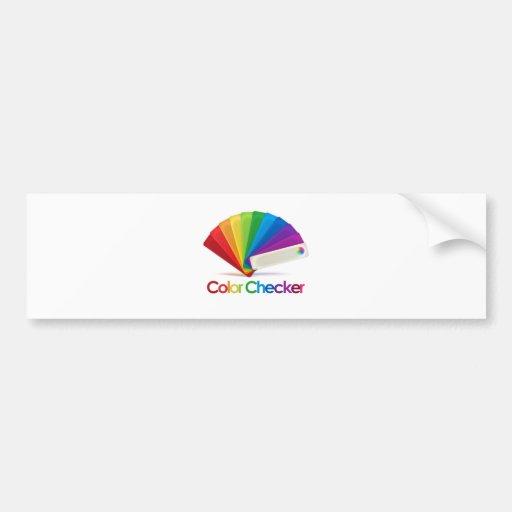 Color Checker Bumper Sticker