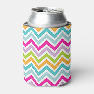 Color Chevron Can Cooler