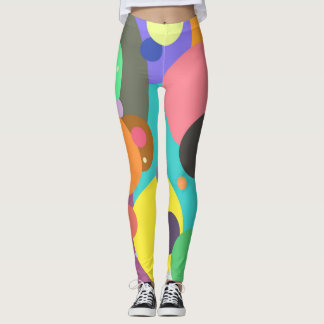 Color circles dots leggings