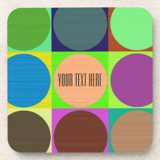 Color Circles in Squares Coasters