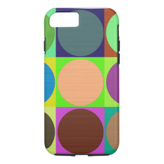 Color Circles in Squares iPhone 7 Case