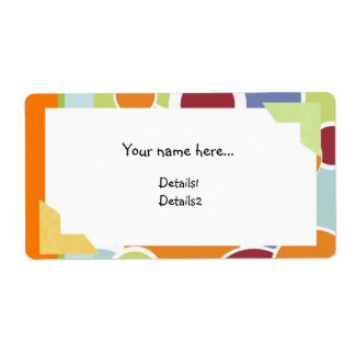 Color Circles Name Label Shipping Label