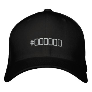 Color code black embroidered hat