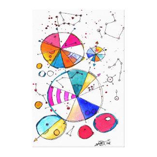 Color Compass Canvas Print