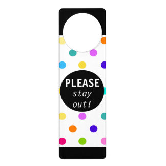 Color confetti polka dot door hanger