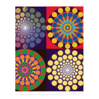 Color Contrasts in Circles Postcard