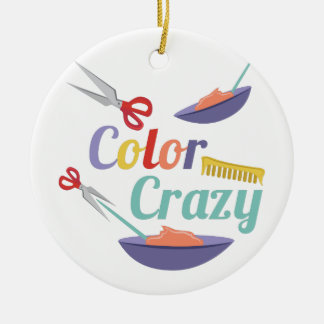 Color Crazy Ceramic Ornament