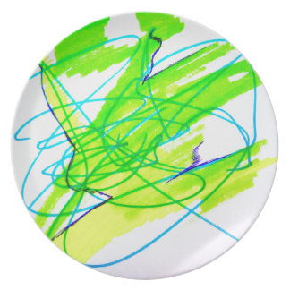 Color Dancing Dinner Plates