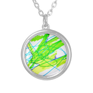 Color Dancing Silver Plated Necklace