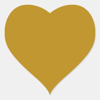 color dark goldenrod heart sticker
