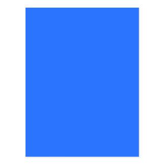 color deep electric blue postcard
