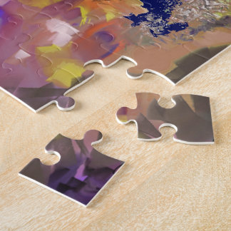 Color Design in the Abstract Jigsaw Puzzle