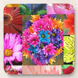 Color Display of flowers Beverage Coasters