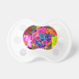 Color Display of flowers Pacifier