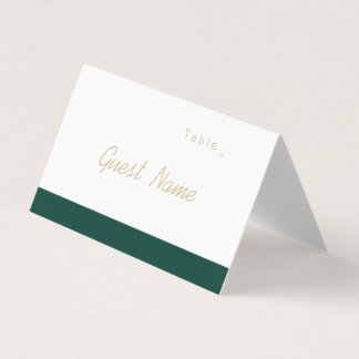 Color editable green minimalist modern place cards