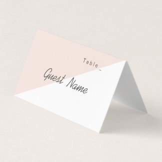 Color editable pink minimalist modern place cards