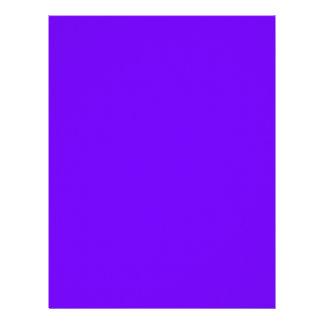 color electric indigo letterhead