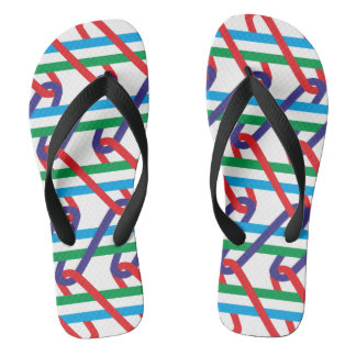 Color enmeshes flip flops