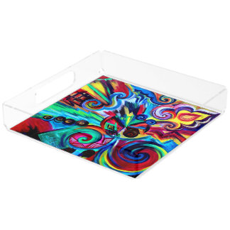 Color Explosion Acrylic Tray