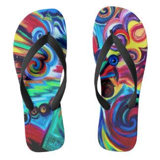 Color Explosion Flip Flops