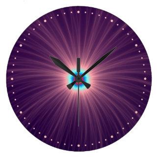 Color Explosion in Purple Wall Clock