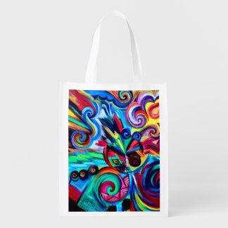 Color Explosion Reusable Grocery Bag