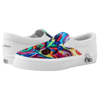 Color Explosion Slip-On Sneakers