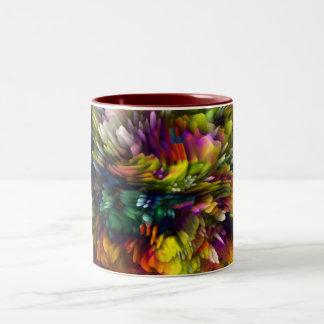 Color Explosion Two-Tone Coffee Mug