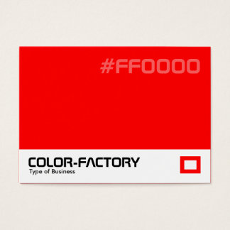 Color Factory - Red (FF0000) Business Card