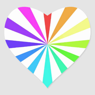 Color Fan Wheel Heart Sticker