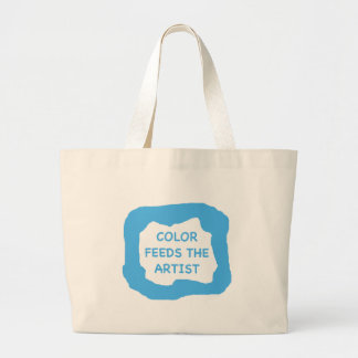 Color feeds the artist .png jumbo tote bag