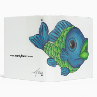 Color fish 3 ring binders