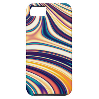 Color Form Abstract Curved Rounded Lines Flowing Case For iPhone 5/5S
