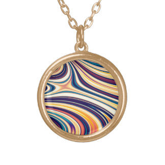Color Form Abstract Curved Rounded Lines Flowing Necklaces