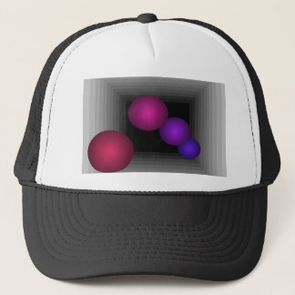 Color Fun 3 D Optical Illusion Infinity Spheres Trucker Hat