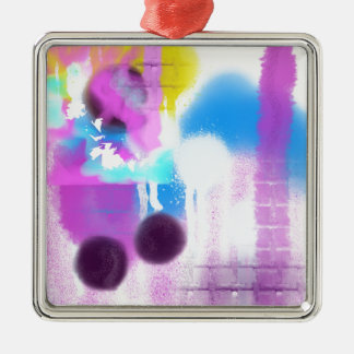 Color Fun.JPG Silver-Colored Square Ornament