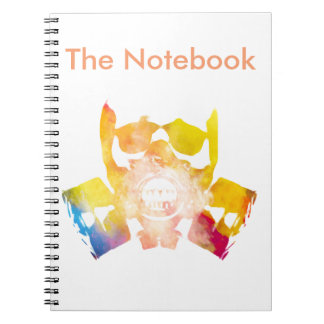 Color gas mask spiral note books