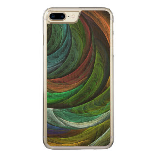 Color Glory Abstract Art Carved iPhone 7 Plus Case