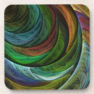 Color Glory Abstract Art Cork Coaster